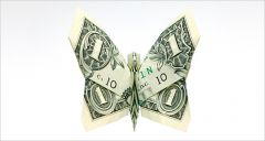 money-gami butterfly