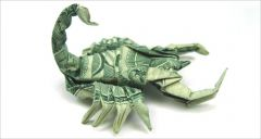 money-gami scorpion